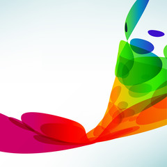 Color abstract background. Bright bent elements