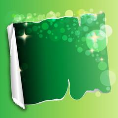 grünes papier mit öffnung