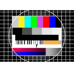 testbild - röhrenbildschirm