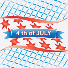 4th of july American.vector