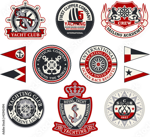 U0026quot;Yachting Badgesu0026quot; Stock Image And Royalty-free Vector Files On Fotolia.com - Pic 42943494
