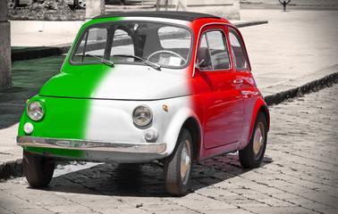 Papiers peints Rouge, noir, blanc Italian vintage car.