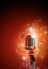 Sound Microphone music background