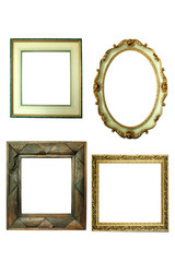 Set of picture frames isolated on white