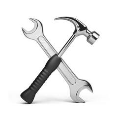 Tools, wrench and hammer