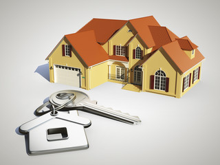 cottage and keys