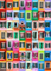 Fototapeta Couleurs de Burano - Venise - Italie