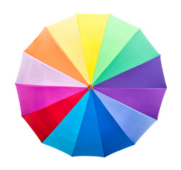 Colourful umbrella isolated with clipping path