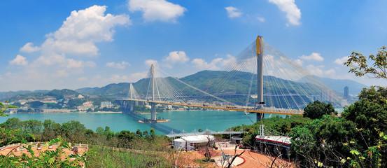 Wall Mural - Bridge in Hong Kong