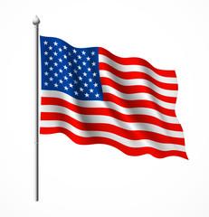 Flag of American, vector illustration