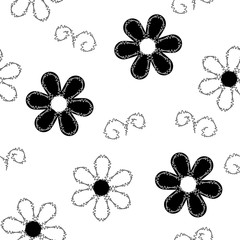 Vector seamless pattern of embroidered lace