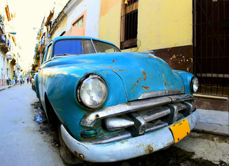 Photo sur Aluminium Voitures de Cuba Classic old car