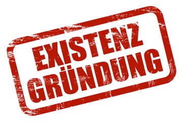 Grunge Stempel rot EXISTENZGRÜNDUNG