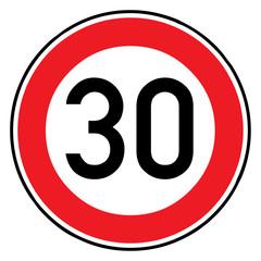 Papier Peint - Verkehrsschild - 274 Höchstgeschwindigkeit (30)