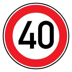 Papier Peint - Verkehrsschild - 274 Höchstgeschwindigkeit (40)