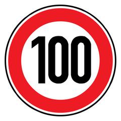 Papier Peint - Verkehrsschild - 274 Höchstgeschwindigkeit (100)