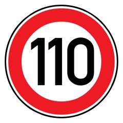 Papier Peint - Verkehrsschild - 274 Höchstgeschwindigkeit (110)