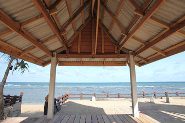 hut with beach
