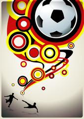 soccer live poster circles