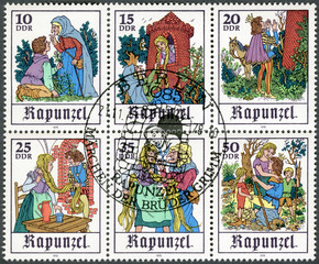 """GERMANY - 1978: shows Scenes from fairy tale """"Rapunzel"""""""