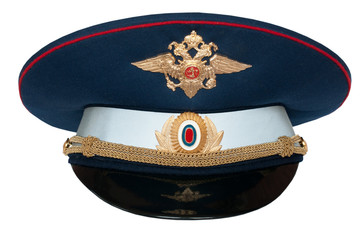 peak-cap of the Russian officer of traffic