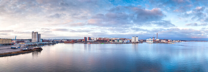 Panorama of Stockholm in the early morning