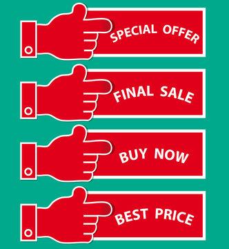 Shopping vector label/sticker set