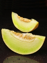 Two melons slices