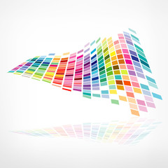 Colorful background mosaic pattern design, vector