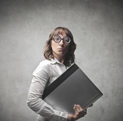 Snobbish businesswoman