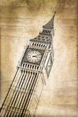 Big Ben vintage - London, UK