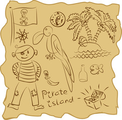 outline Pirate Collection