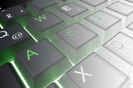 Tastatur-Raster Verlauf weiß