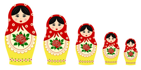 Traditional matryoschka dolls