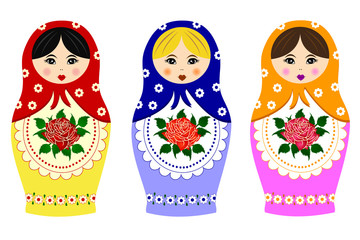 Traditional russian matryoshka
