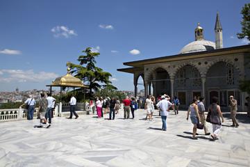 Upper terrace and Baghdad Kiosk, Topkapi Palace, Istanbul, Turke
