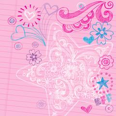 Star Sketchy Notebook Doodles Vector Design Elements