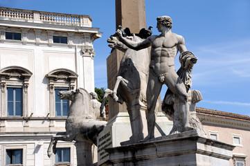Rom Palazzo del Quirinale Piazza Detail