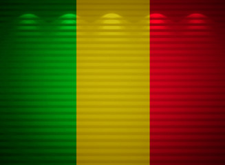 Mali flag wall, abstract background
