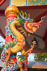 Chinese style dragon statue in Pattaya, Thailand.