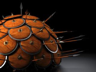 Abwehr Formation Schildkröte 3D