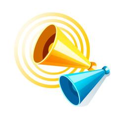 vector icon loudspeaker