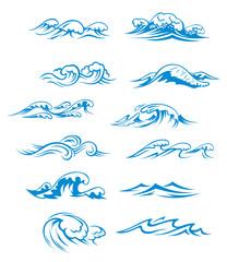 Ocean waves set