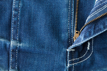 The rack of blue jeans