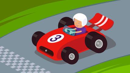 Cadres-photo bureau Voitures enfants Race Car