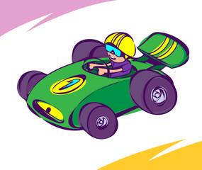 Cadres-photo bureau Voitures enfants Green Car