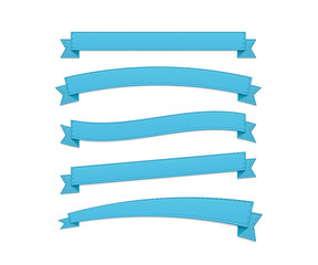Blue retro ribbons