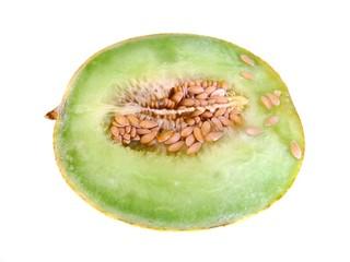 Melon cortado aislado
