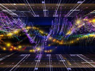 Digital Sine Wave Background