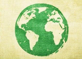 Deurstickers Wereldkaart World map